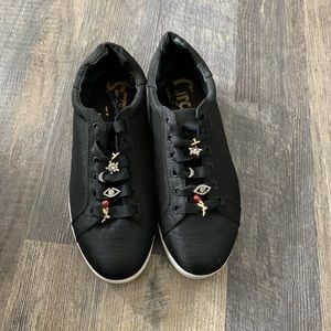 Black Sneakers w/ Charms